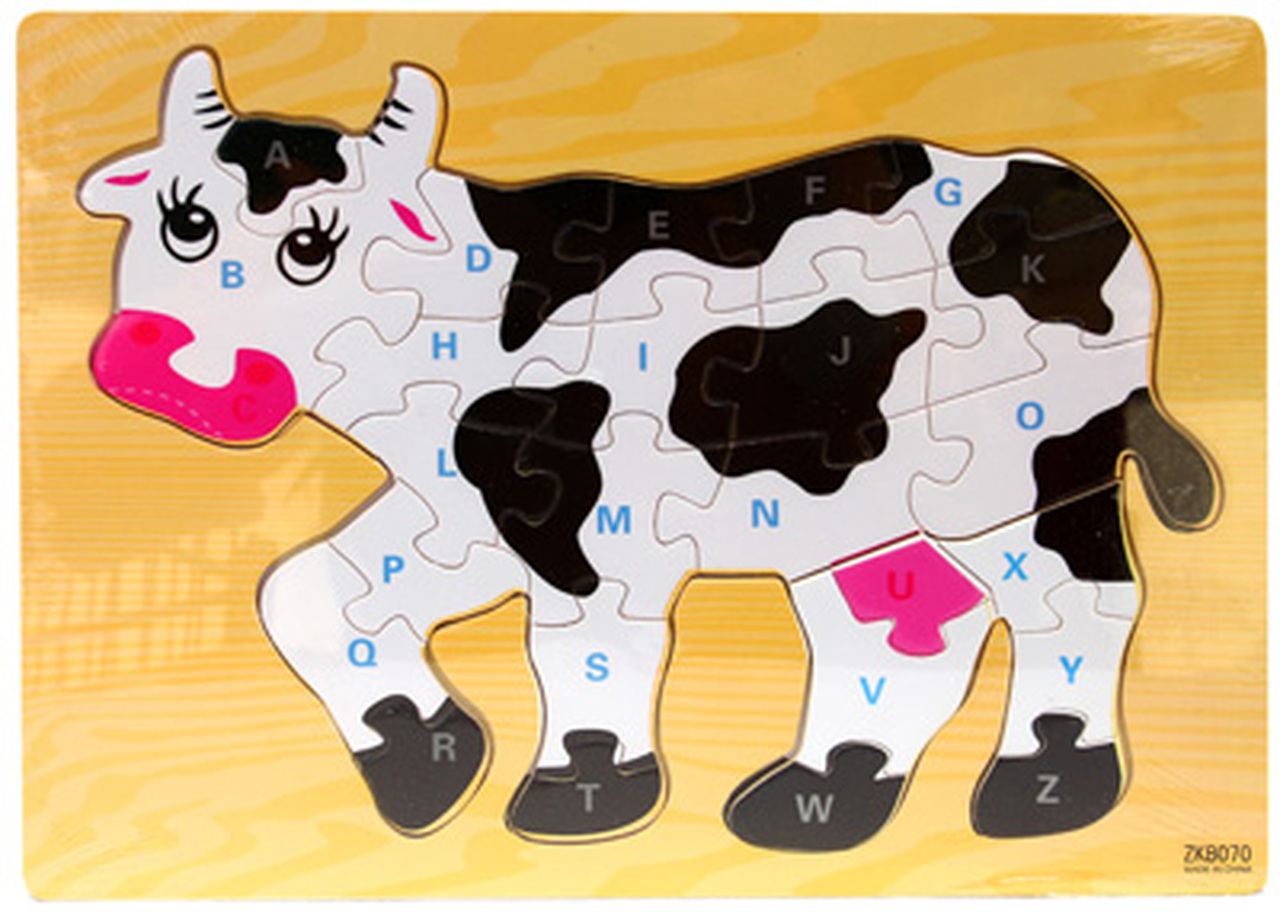 Wooden Jigsaw Puzzle Cow