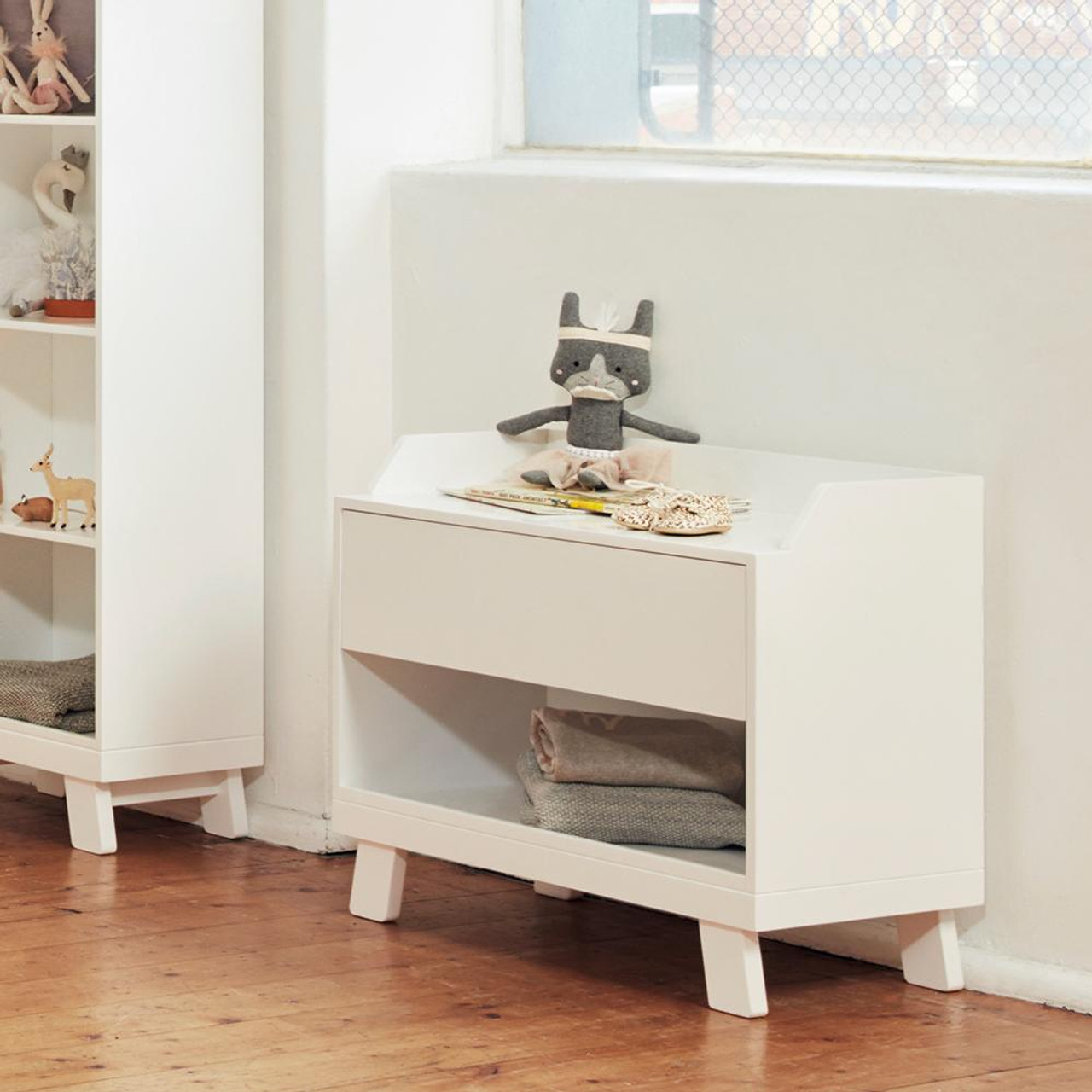 Bebe Care Casa Toy Box With Seat White