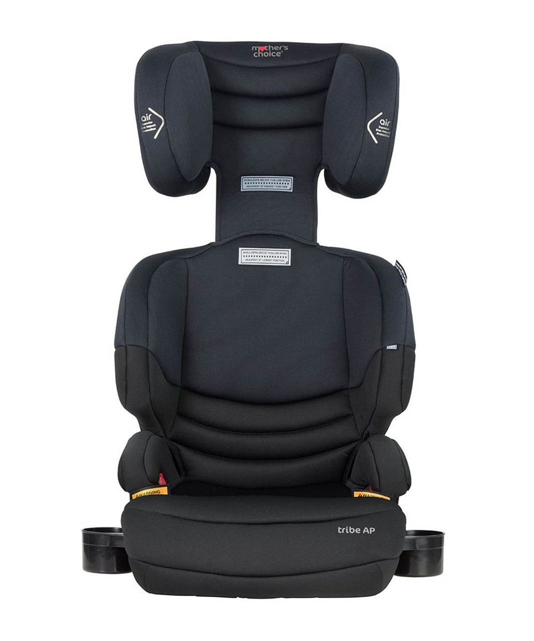 The Mother's Choice Tribe AP booster seat is a narrow, yet comfortable seat that allows for up to 3 seats across the back in most cars.