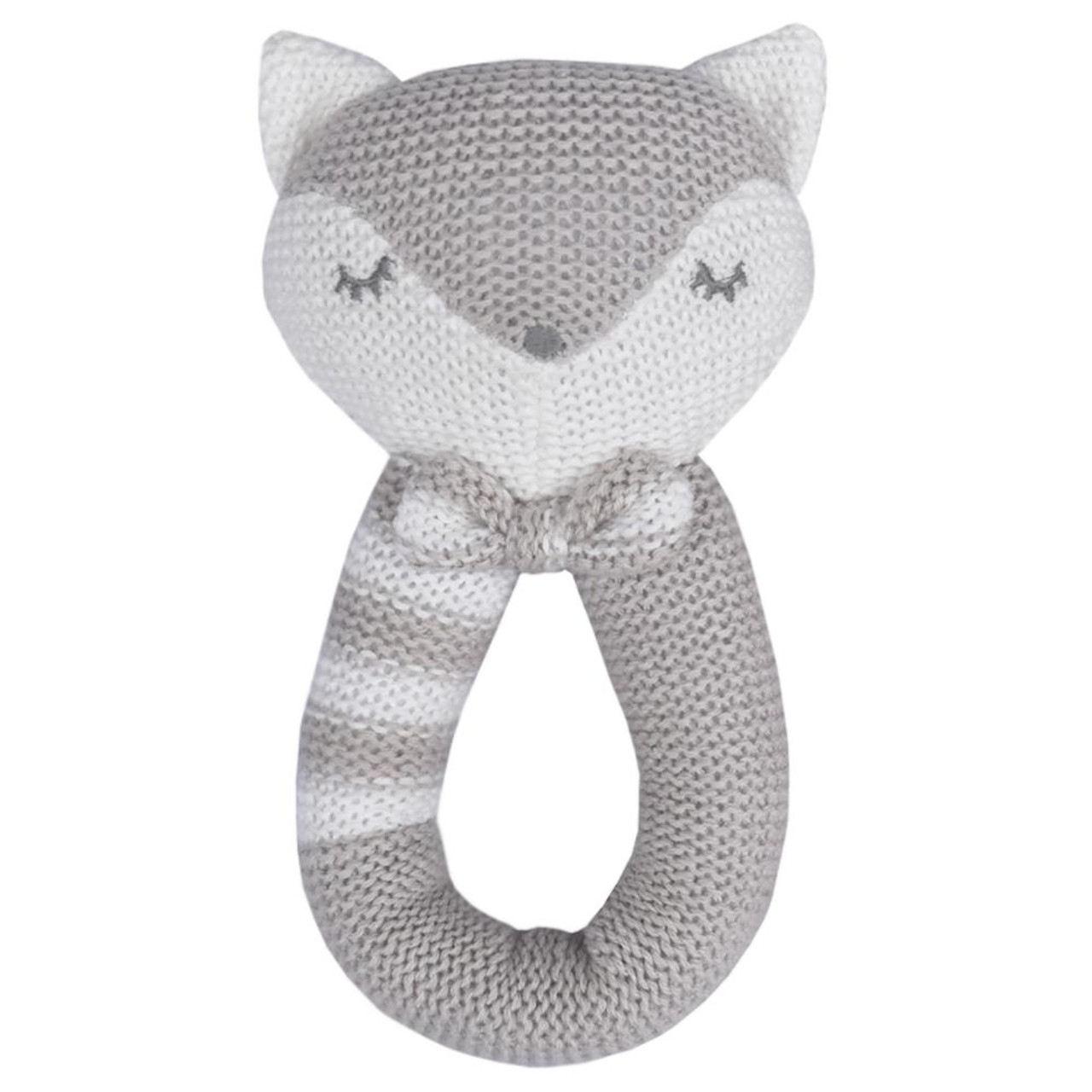 Living Textiles Knitted Rattle - FOX