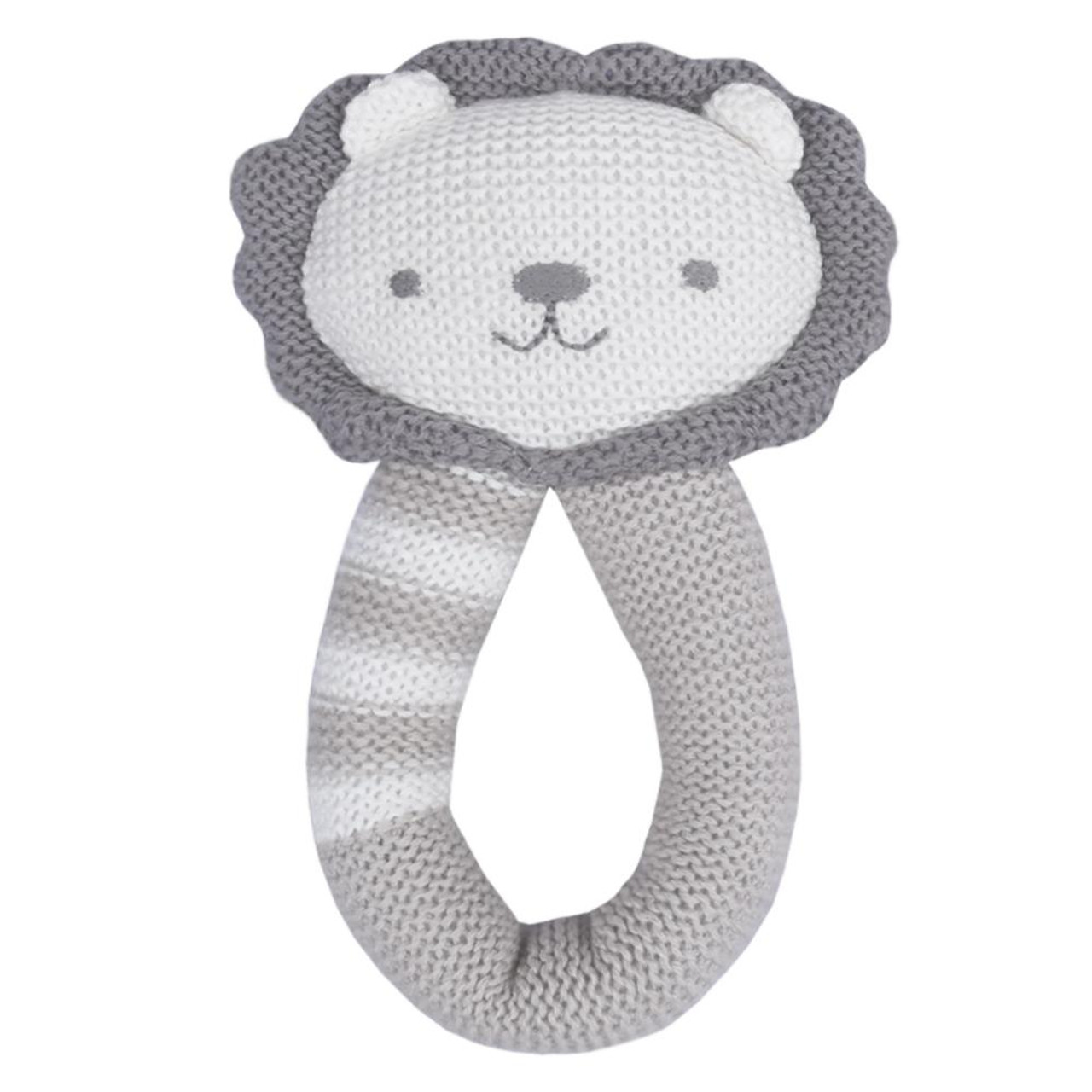 Living Textiles Knitted Rattle - LION