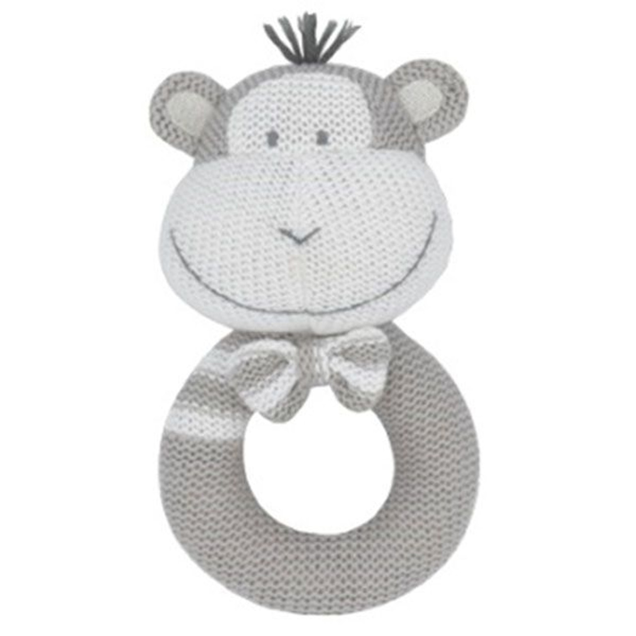 Living Textiles Knitted Rattle - MONKEY