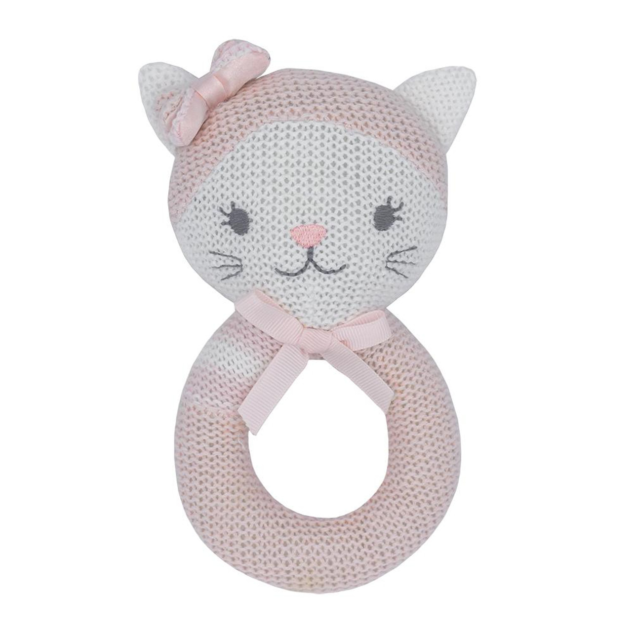 Living Textiles Knitted Rattle - CAT