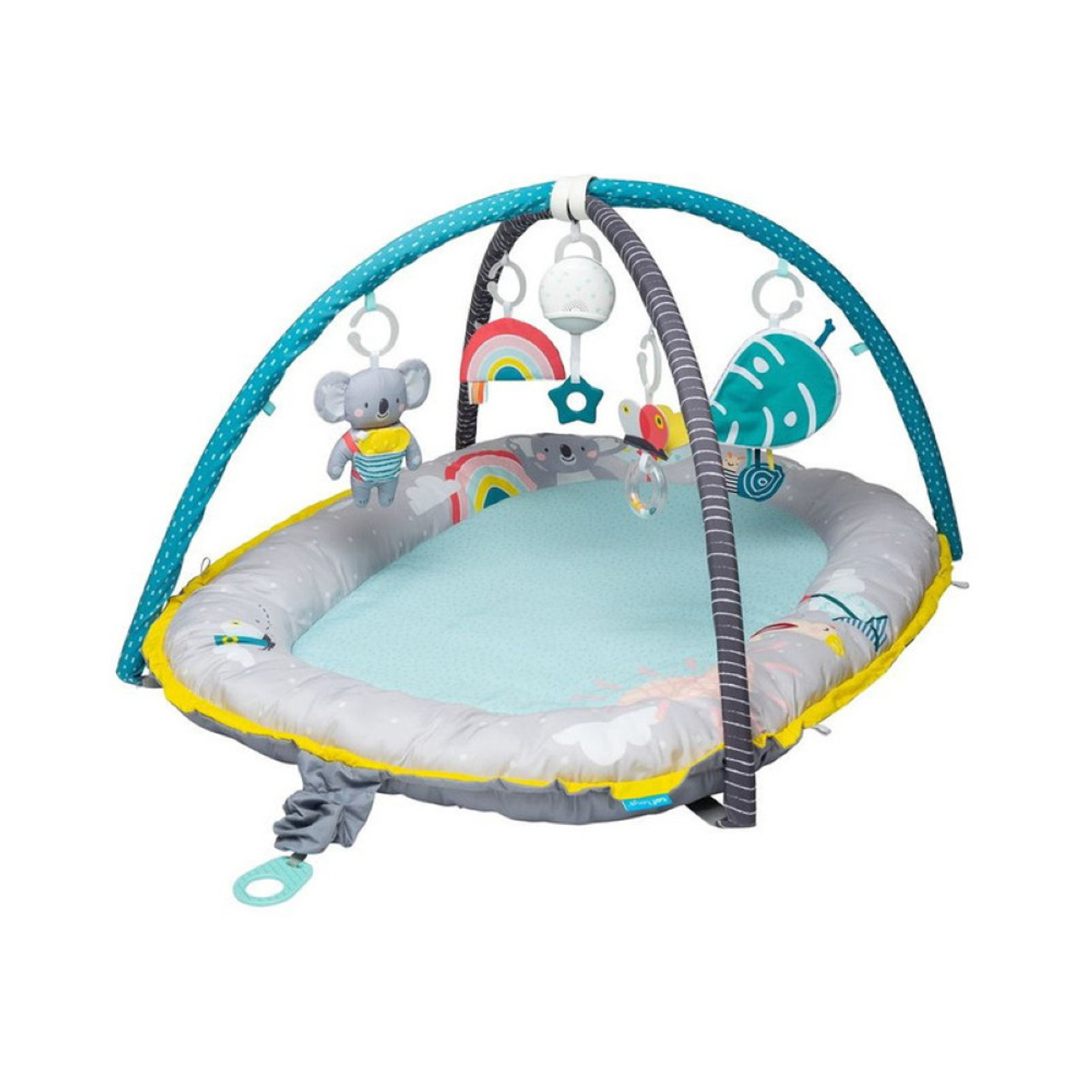TAF Toys Koala Musical Cosy Gym is a richly colorful & thickly padded cozy gym.