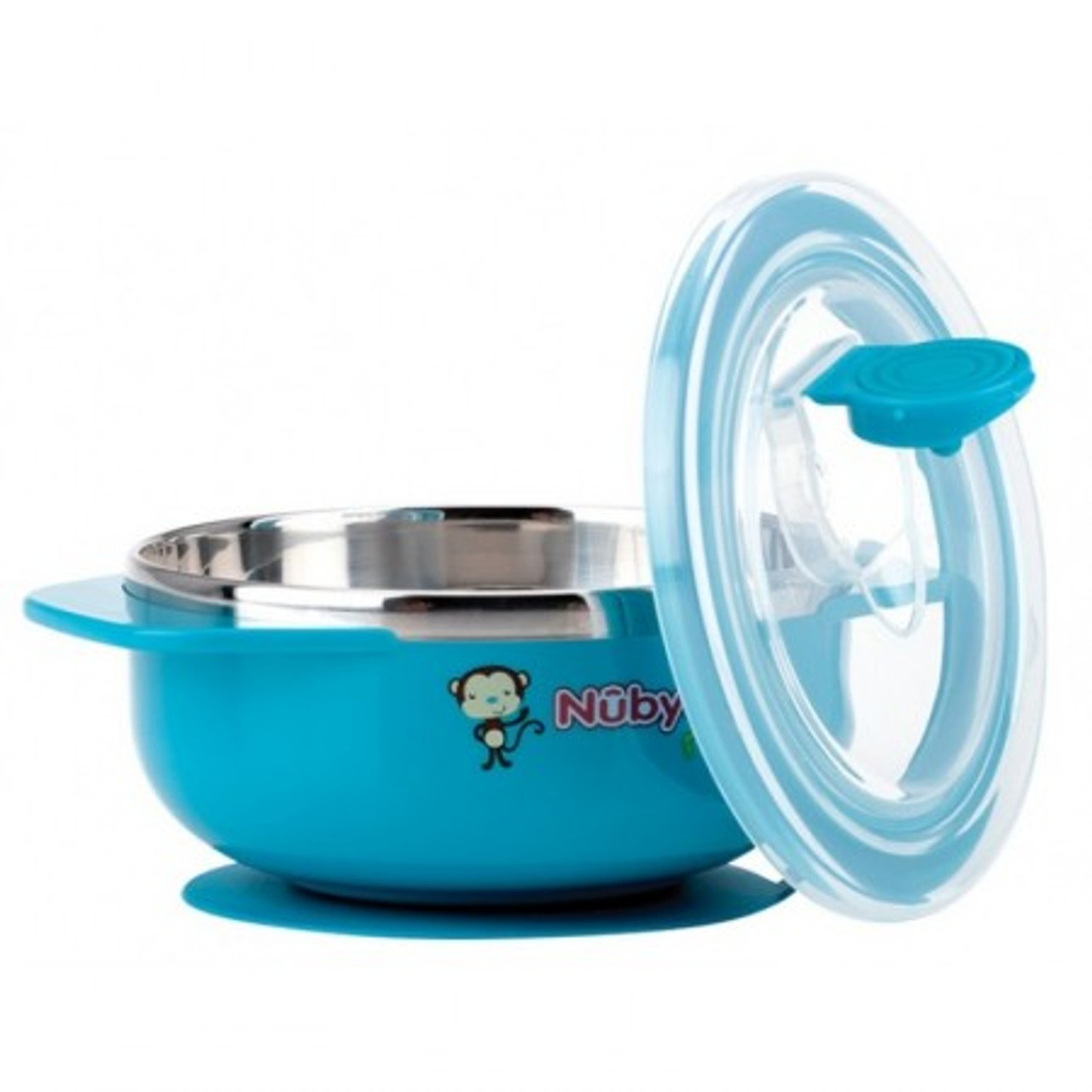 Nuby Stainless Steel Suction Bowl - BLUE