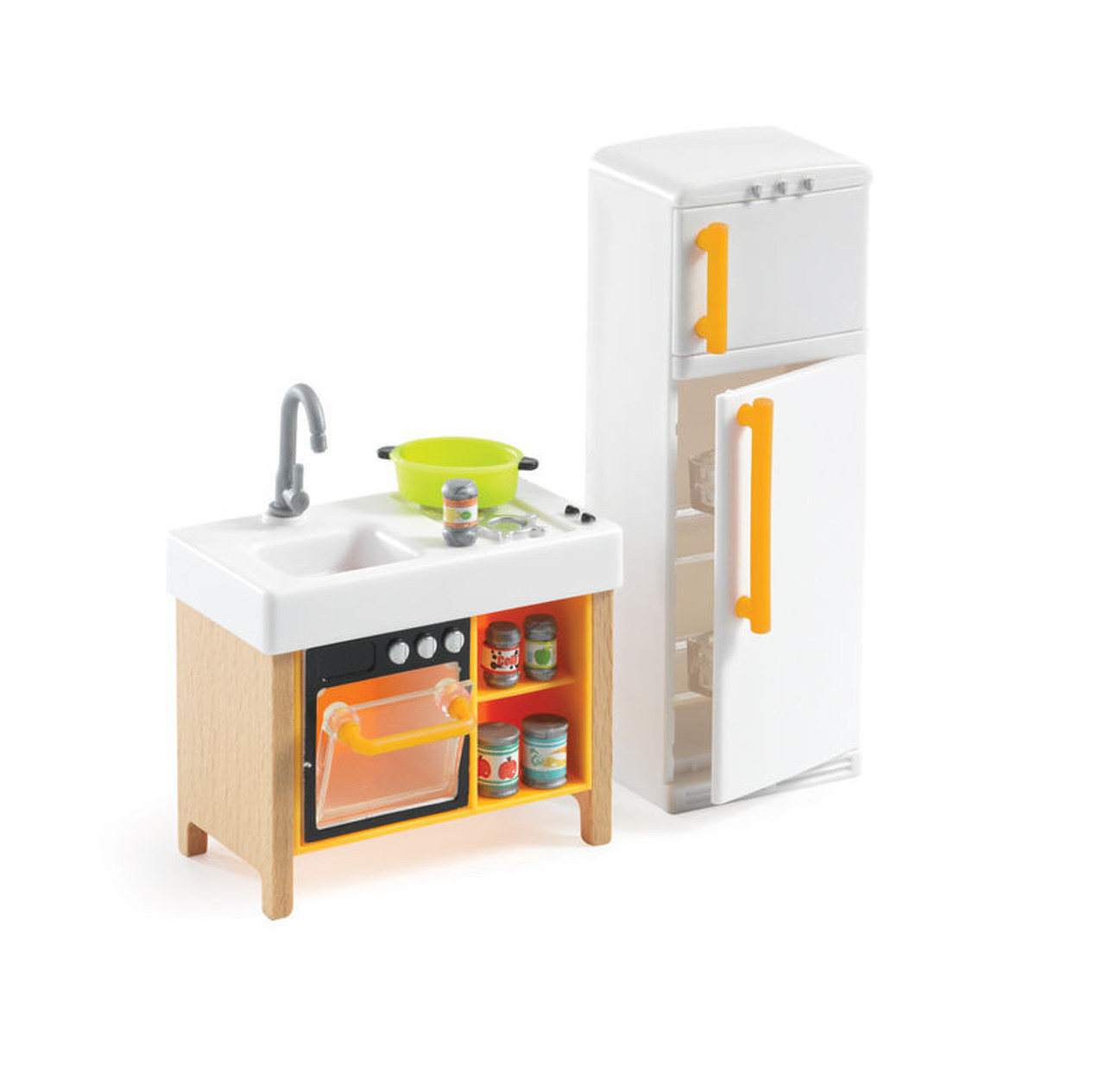 Djeco Doll House Compact Kitchen Furniture