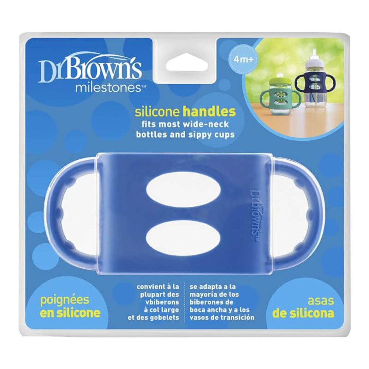 Dr Brown's Wide Silicone Handle - BLUE