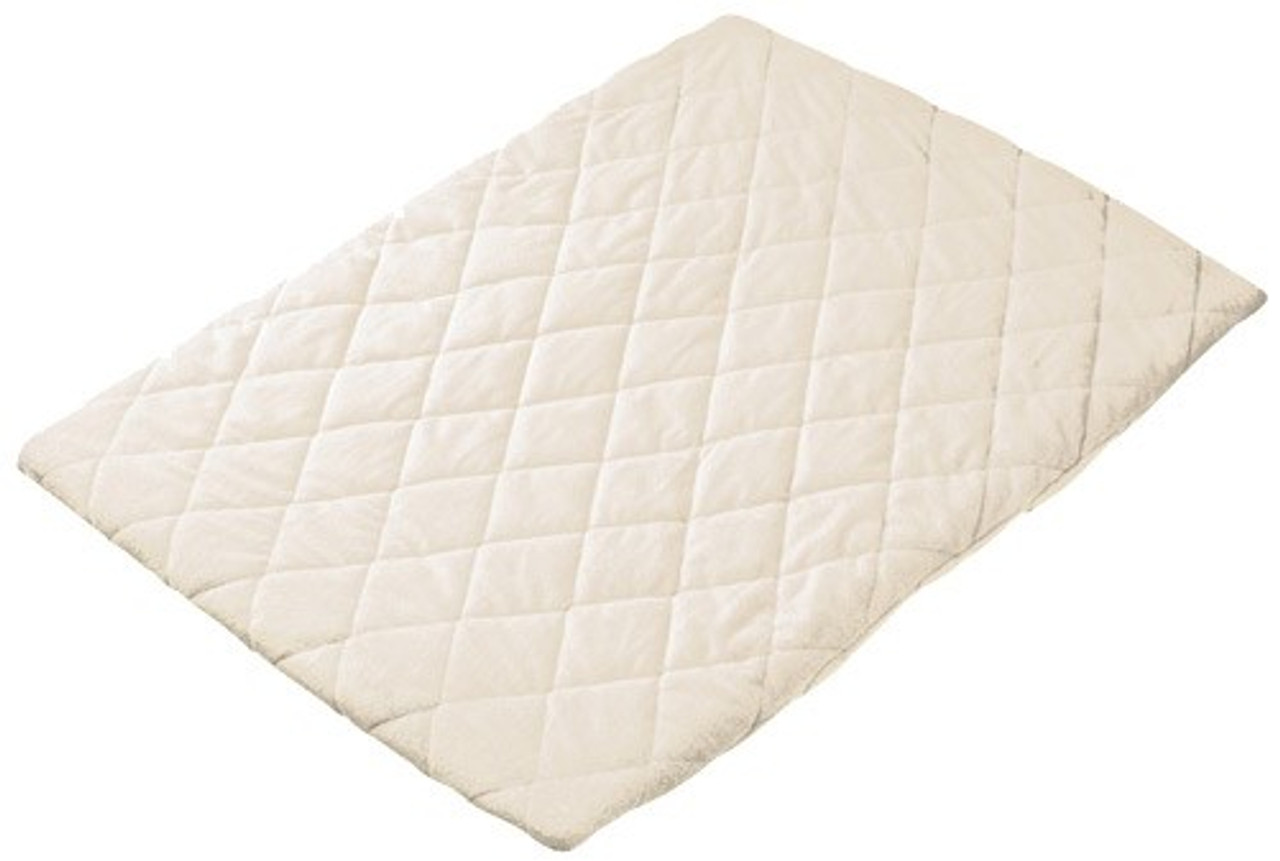Playette Quilted Travel Cot Sheet - CREAM
