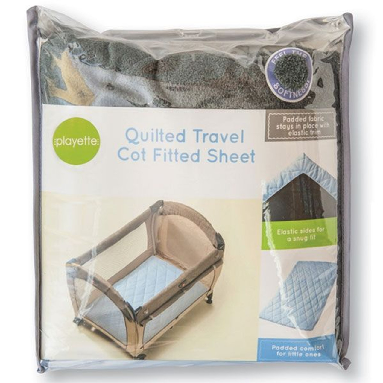 Playette Quilted Travel Cot Sheet