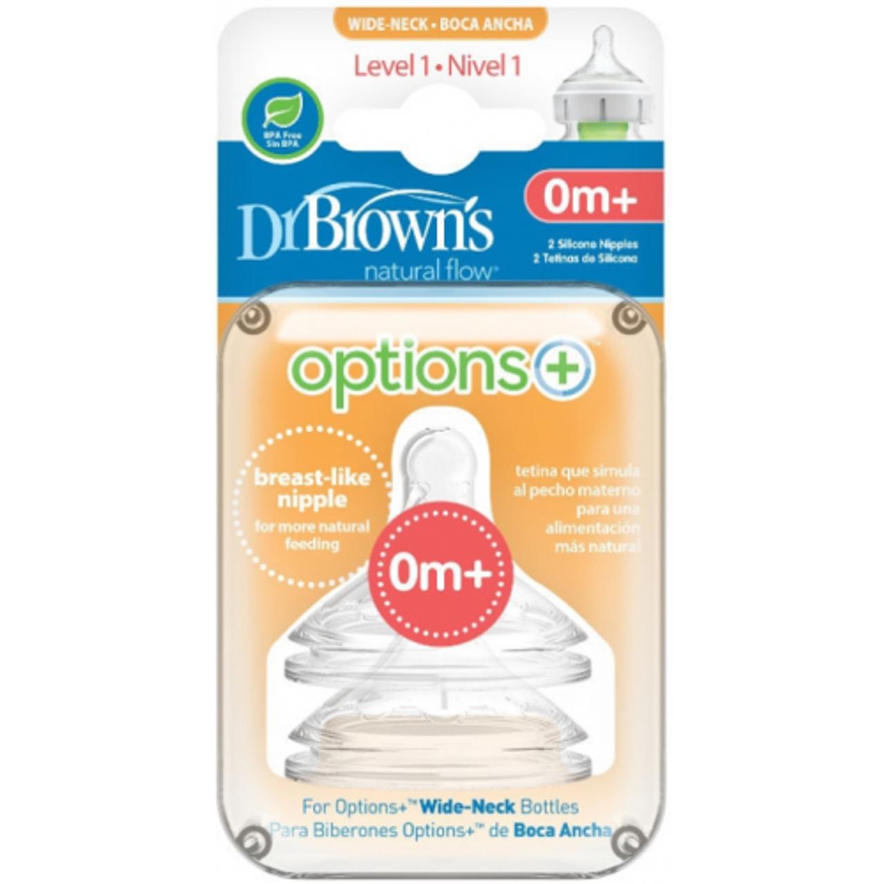 Dr Brown's Option PLUS Wide Neck Teats Vend Uncategorized 11.95