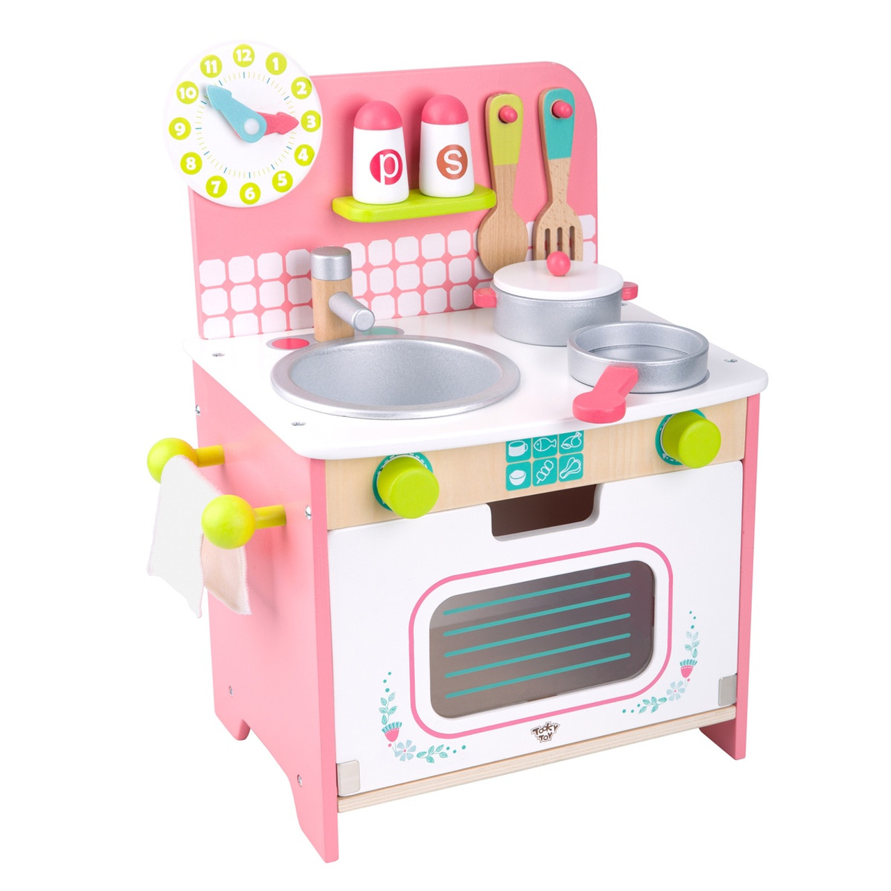 Tooky Toy Wooden Kitchen Set - Medium