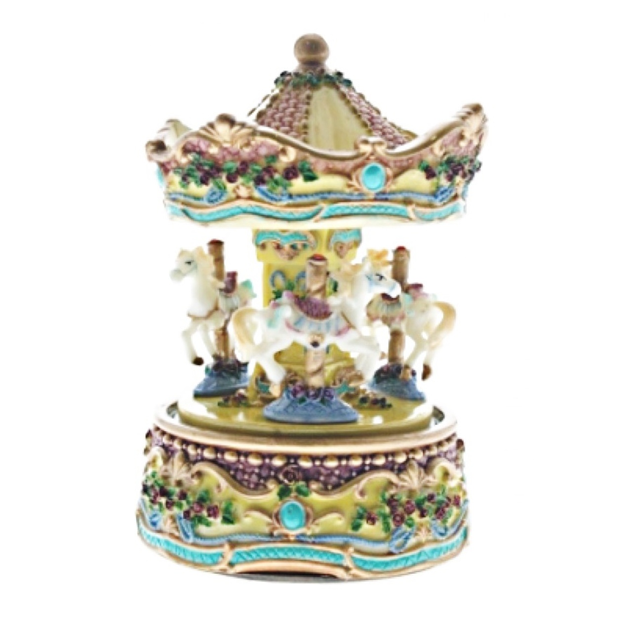 Cotton Candy Yellow and Blue Carousel 15cm