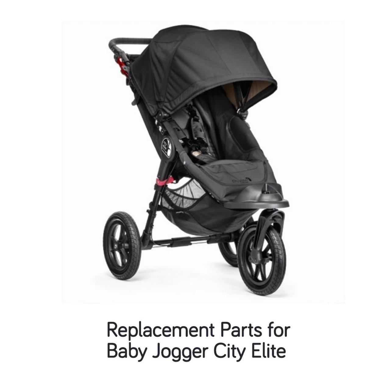 Baby Jogger City Elite Crotch and Shoulder Pad Set - Black