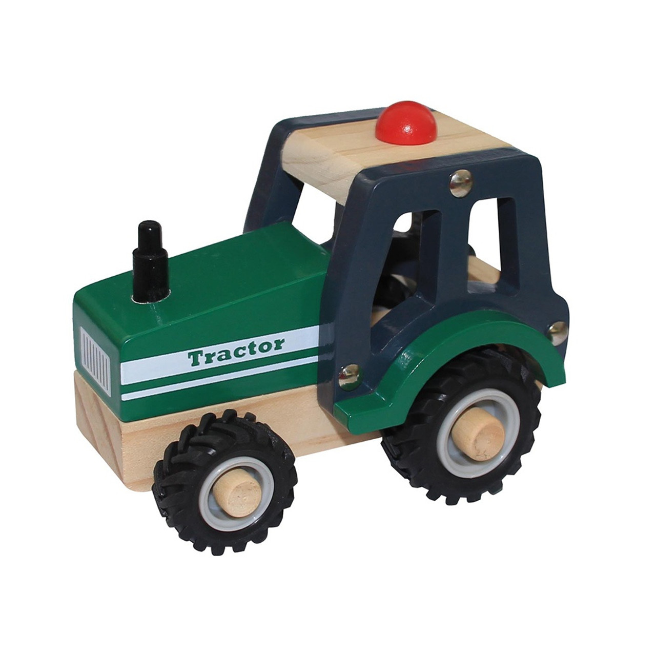 Toys Link Wooden Truck - GREEN TRACTOR
