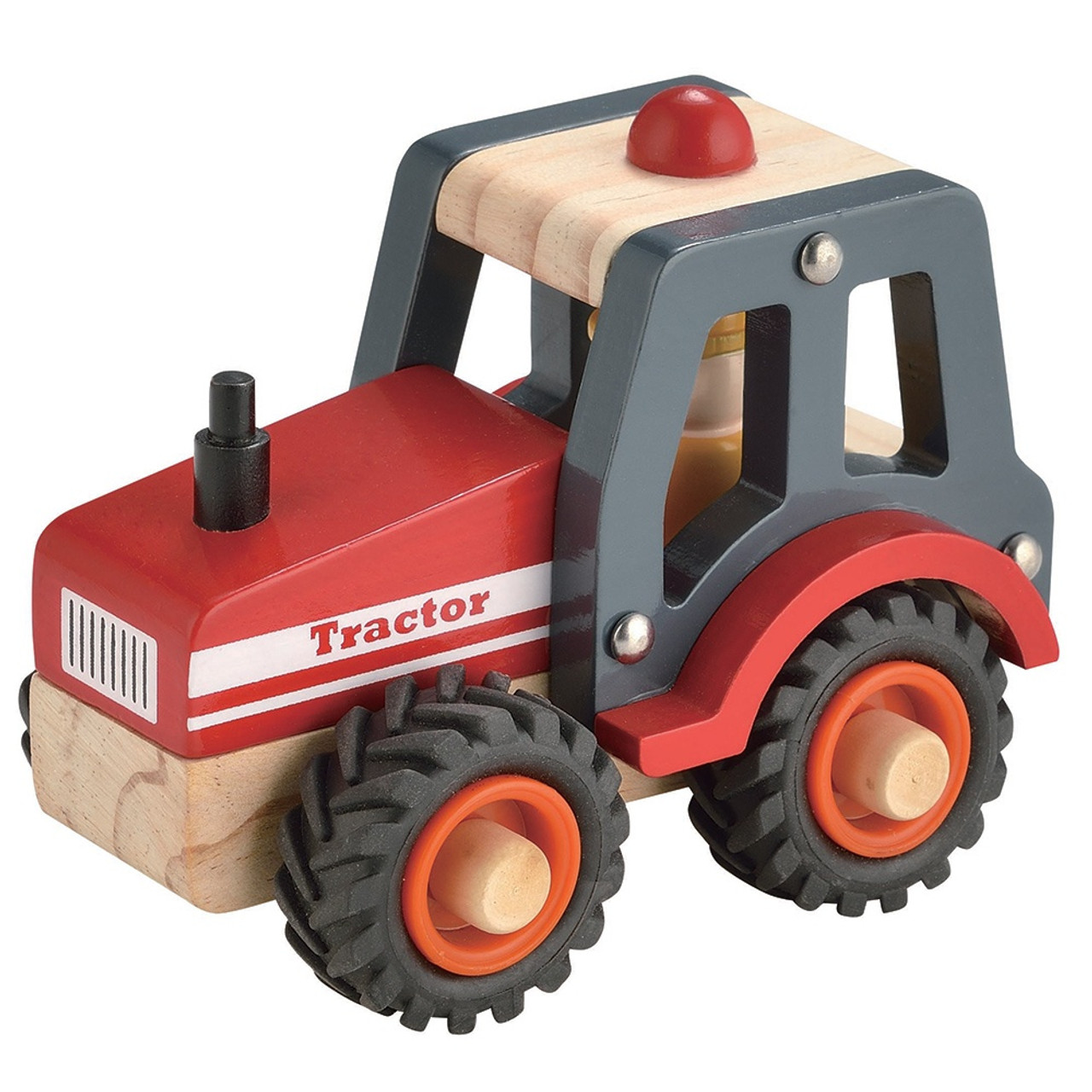 Toys Link Wooden Truck - RED TRACTOR