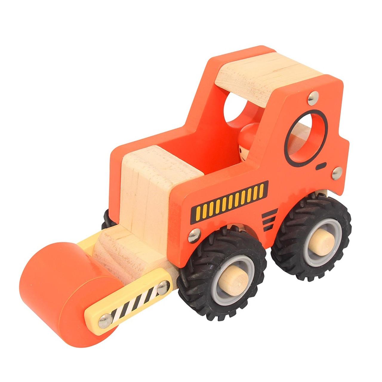 Toys Link Wooden Truck - ROAD ROLLER