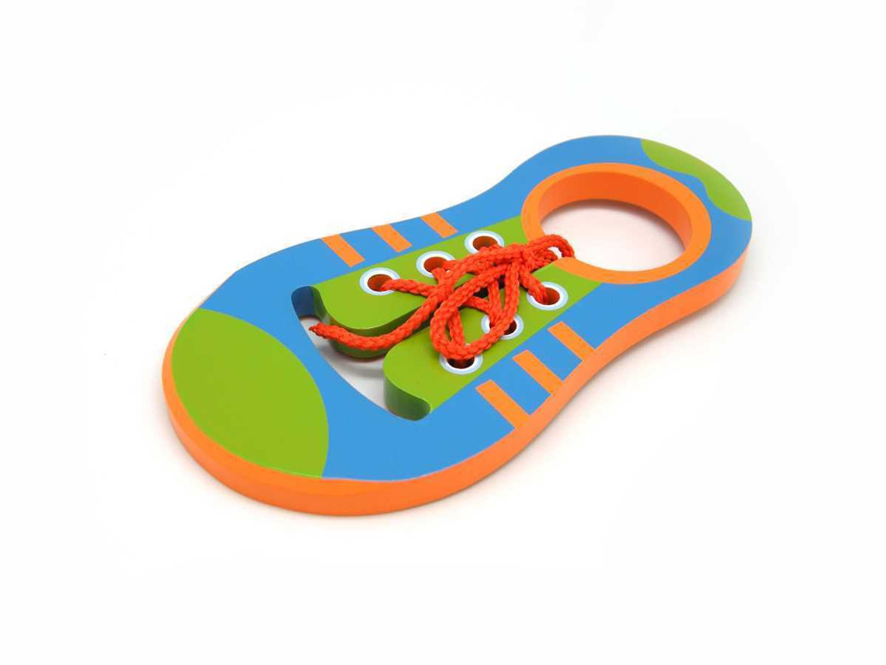 Kaper Kidz Wooden Learn to Tie Shoe Lace