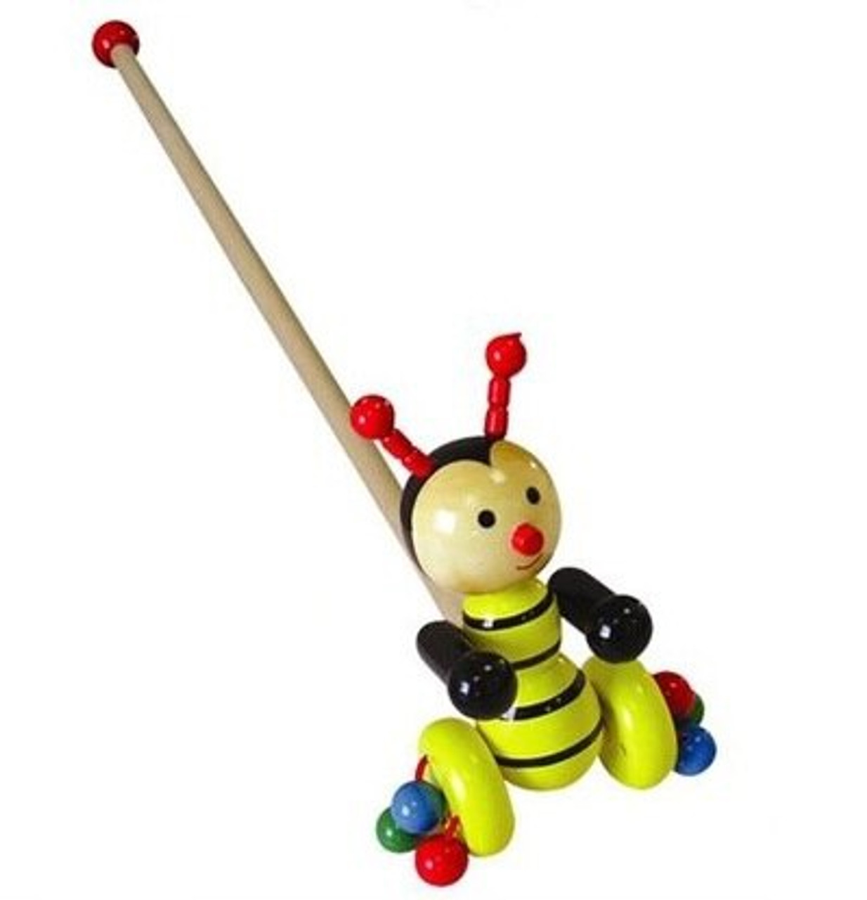 Fun Factory Wooden Push Toy - Bumble Bee