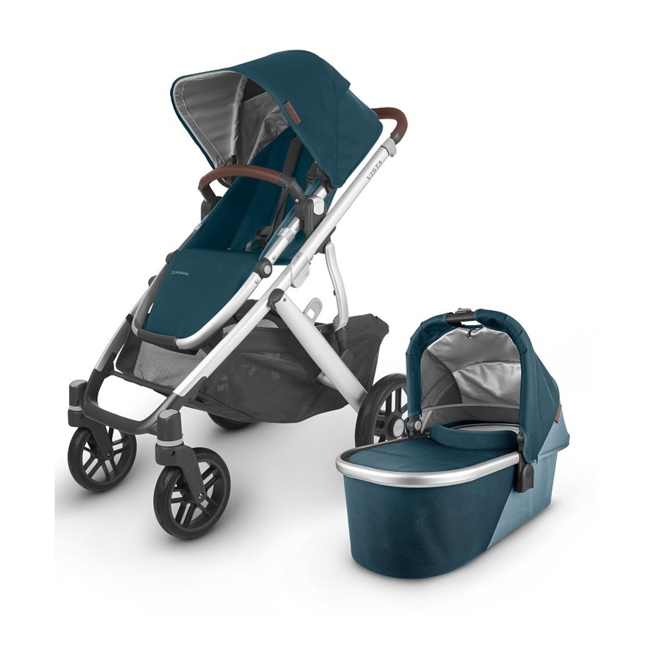 UPPAbaby VISTA pram has a one step fold with or without the toddler seat attached.