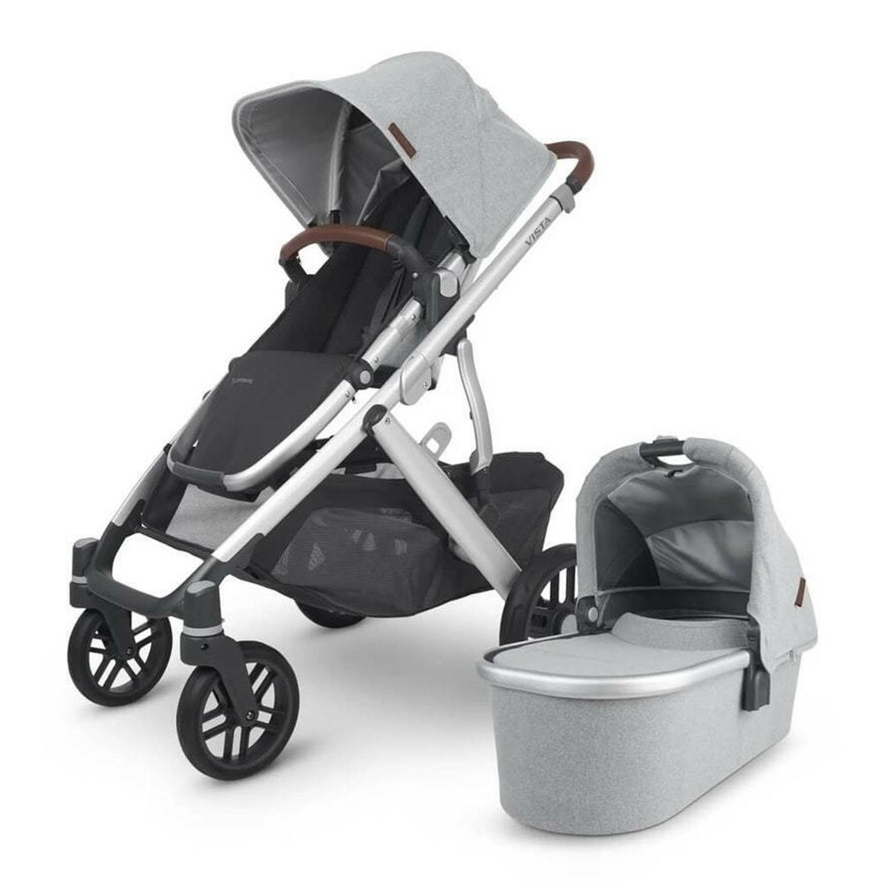 UPPAbaby VISTA (V2)2020 smooth and comfortable ride due to shock absorbing all wheel suspension.