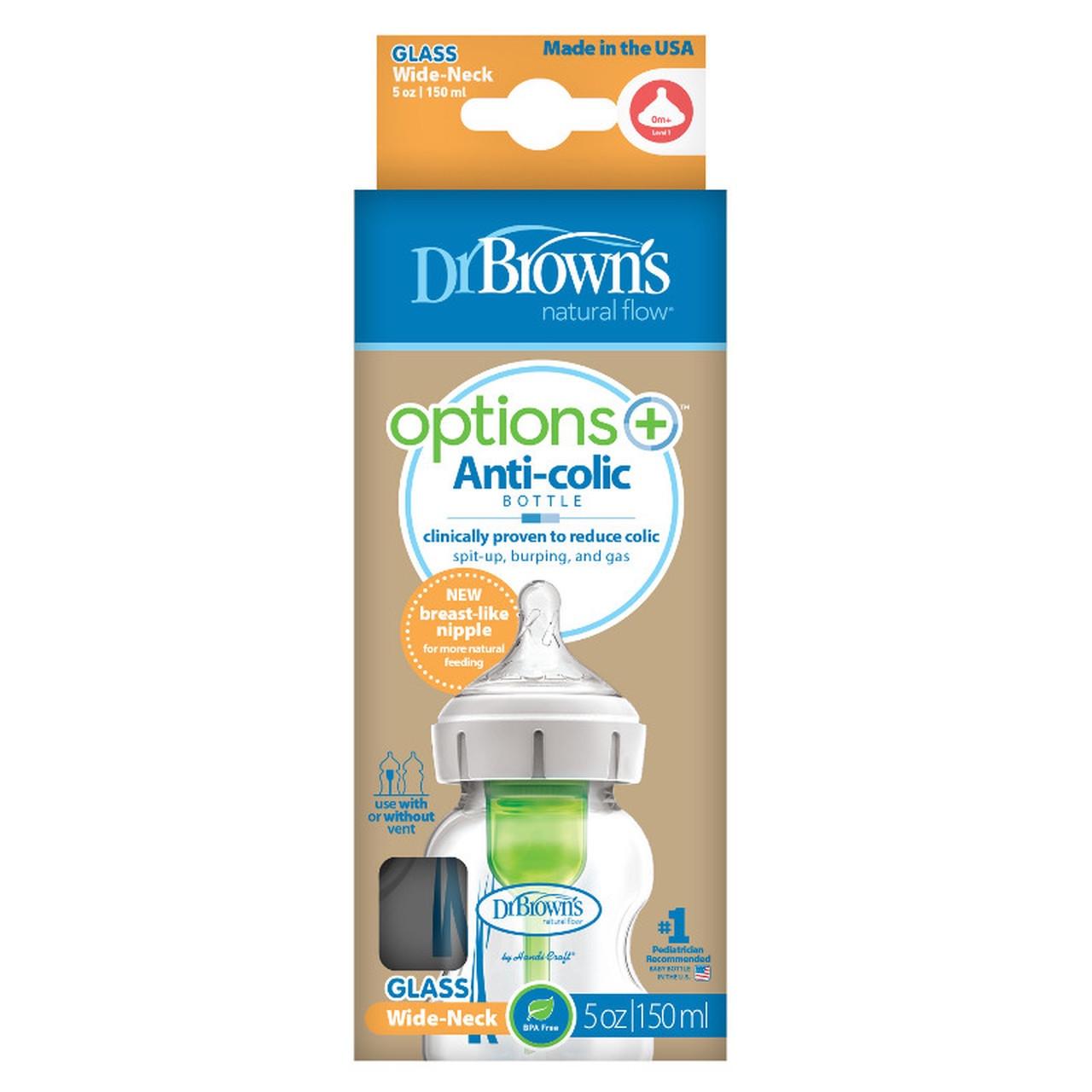 Dr Browns Options Plus Glass Bottle 150ml 1pk