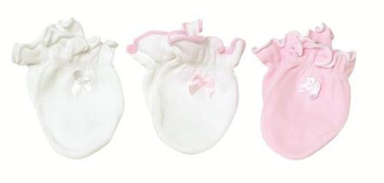 Playette Newborn Essential Mitten 3pk - PINK at Baby Barn Discounts