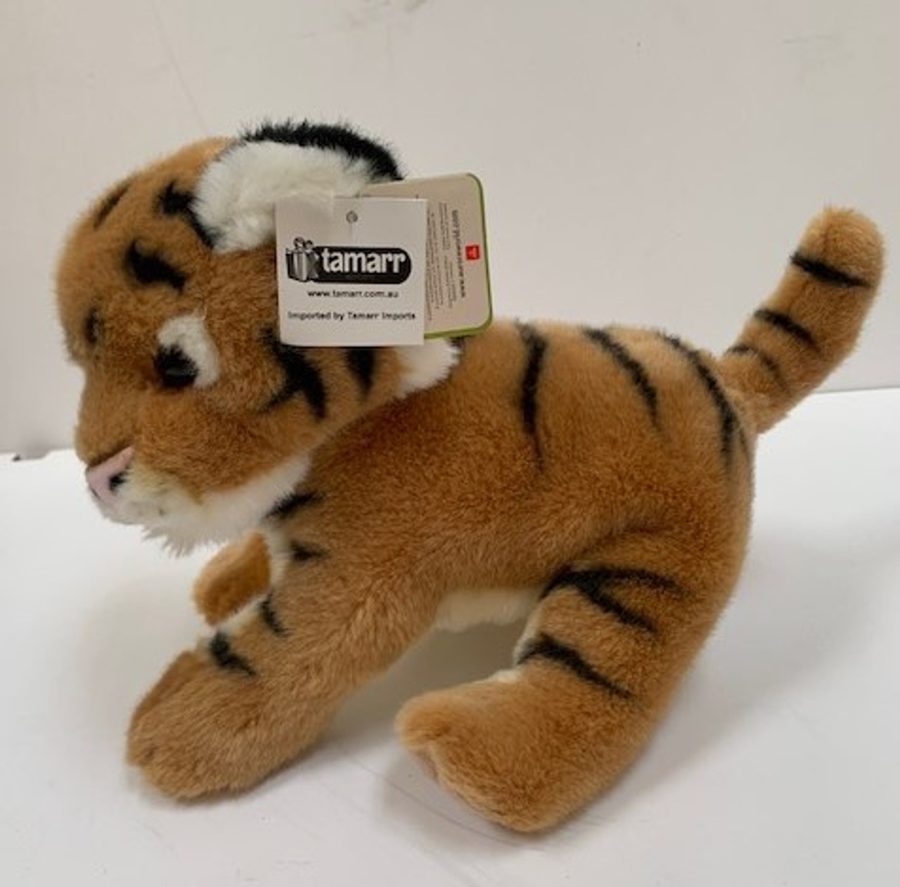 Nature Babies Brown Soft Tiger 12 inch Side