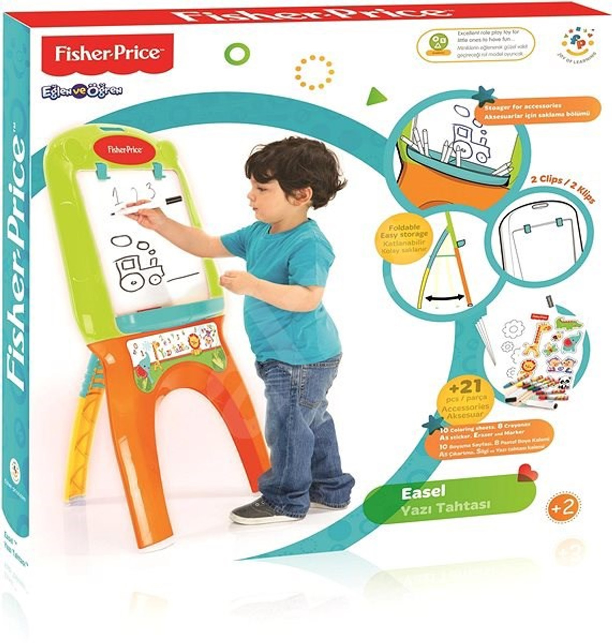 Fisher Price Easel with 21 pcs Accessories