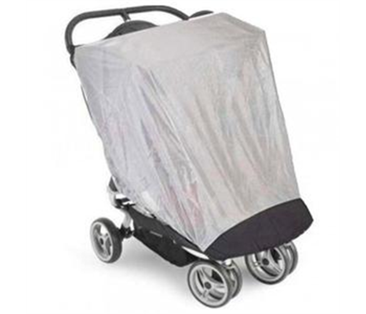 Baby Jogger Double Bug Canopy for City Mini at Baby Barn Discounts Baby Jogger City Mini Double Bug Canopy completely encloses the front and side of the stroller with a fine woven mesh while providing ventilation for your child.