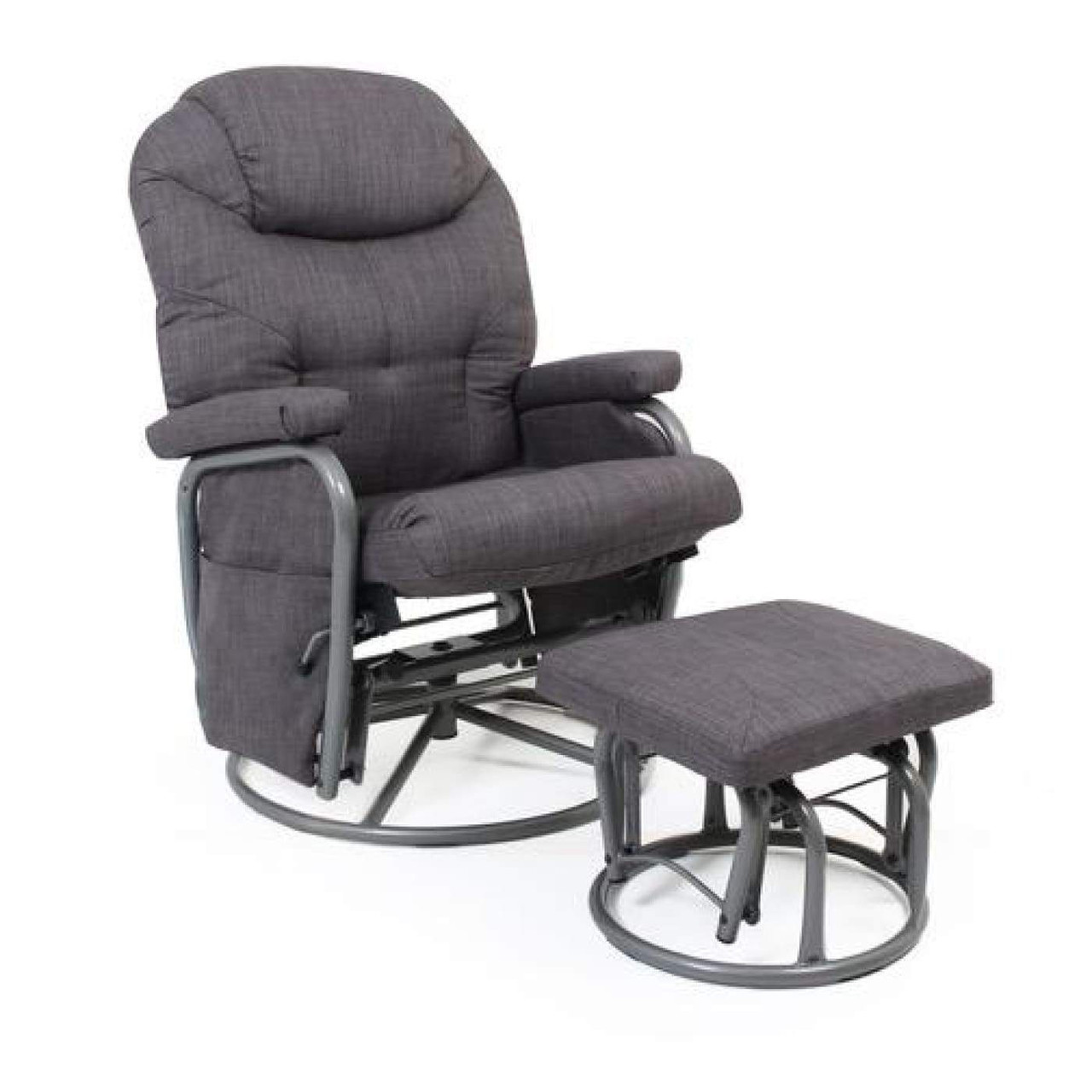 Valco Seville Glider Set Pepper Grey at Baby Barn Discounts The soothing gliding motion and comfortable padding will ensure you and your baby are in the most comfortable environment possible.