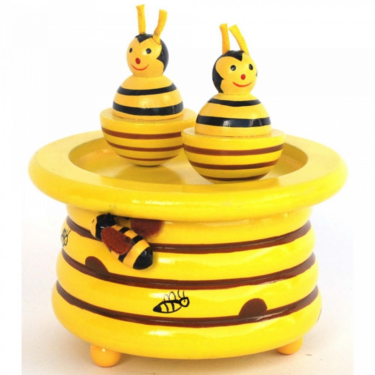 Toyslink Music Box at Baby Barn Discounts A Beautiful wind-up clockwork music box, featuring two magnetic bees.