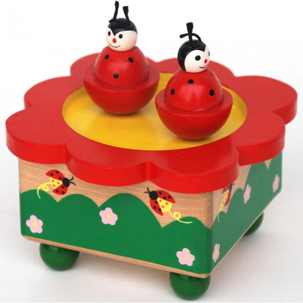 Toyslink Music Box at Baby Barn Discounts A Beautiful wind-up clockwork music box, featuring two magnetic ladybugs.