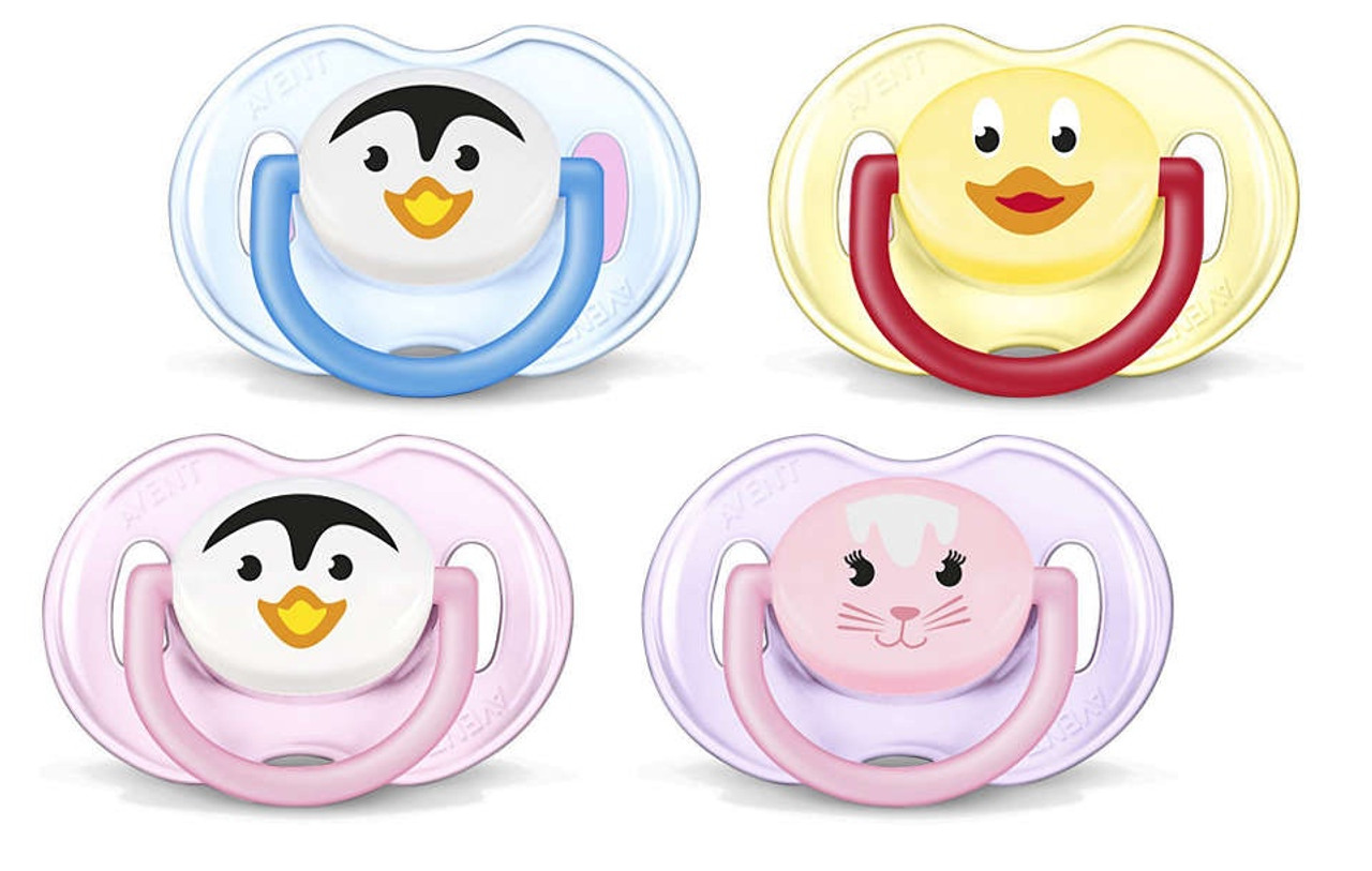 Avent Animal Pacifier Soother 0-6m at Baby Barn Discounts Avent orthodontic teat is symmetrically shaped and respects the natural development of your baby's palate and teeth, even if the soother ends up upside down in the mouth.