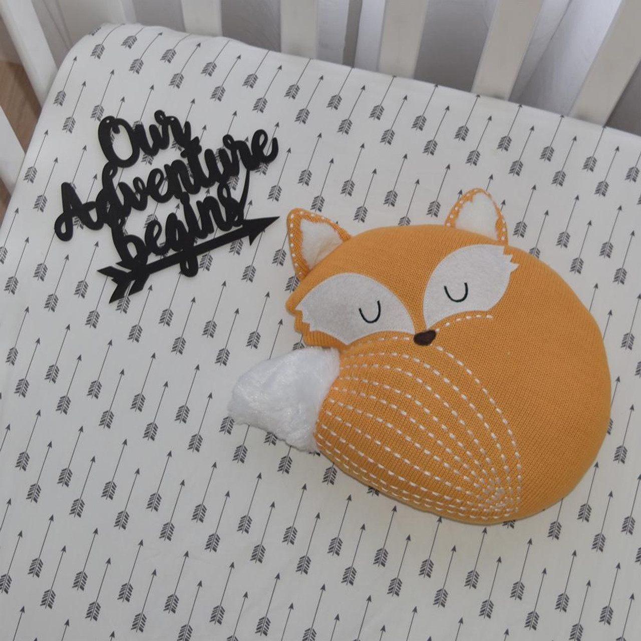 Lolli Living Knitted Decorative Character Cushion Fox at Baby Barn Discounts