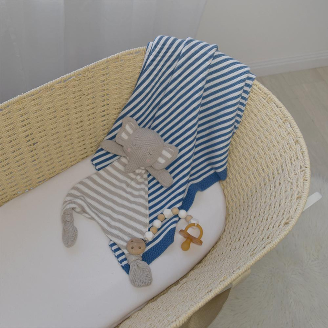 Living Textiles Knitted Stripe Baby Blanket at Baby Barn Discounts