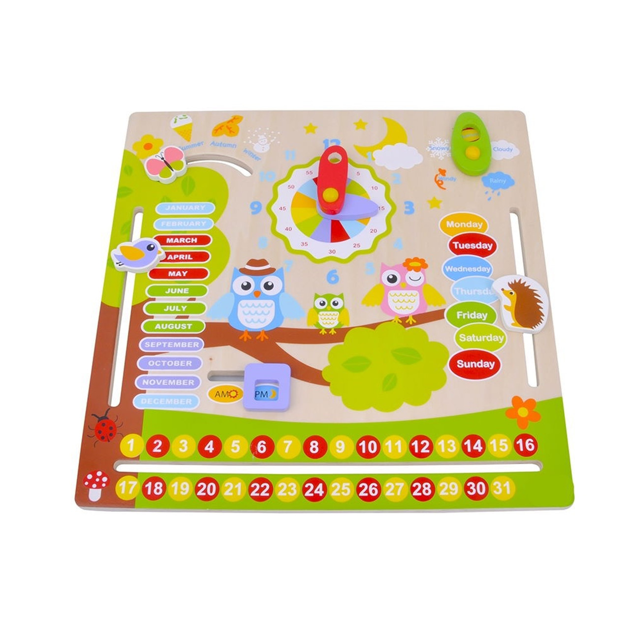 Toyslink Owl Calendar at Baby Barn Discounts This calendar has a lovely painted image of animals in a tree.