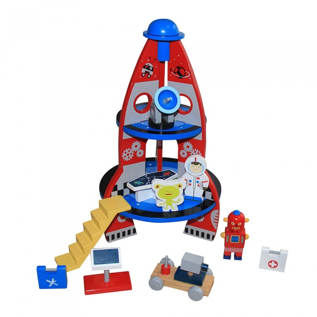 Toyslink Wooden Spaceship Playset at Baby Barn Discounts A charming wooden spaceship and accessories, make your pretend play out of this world!