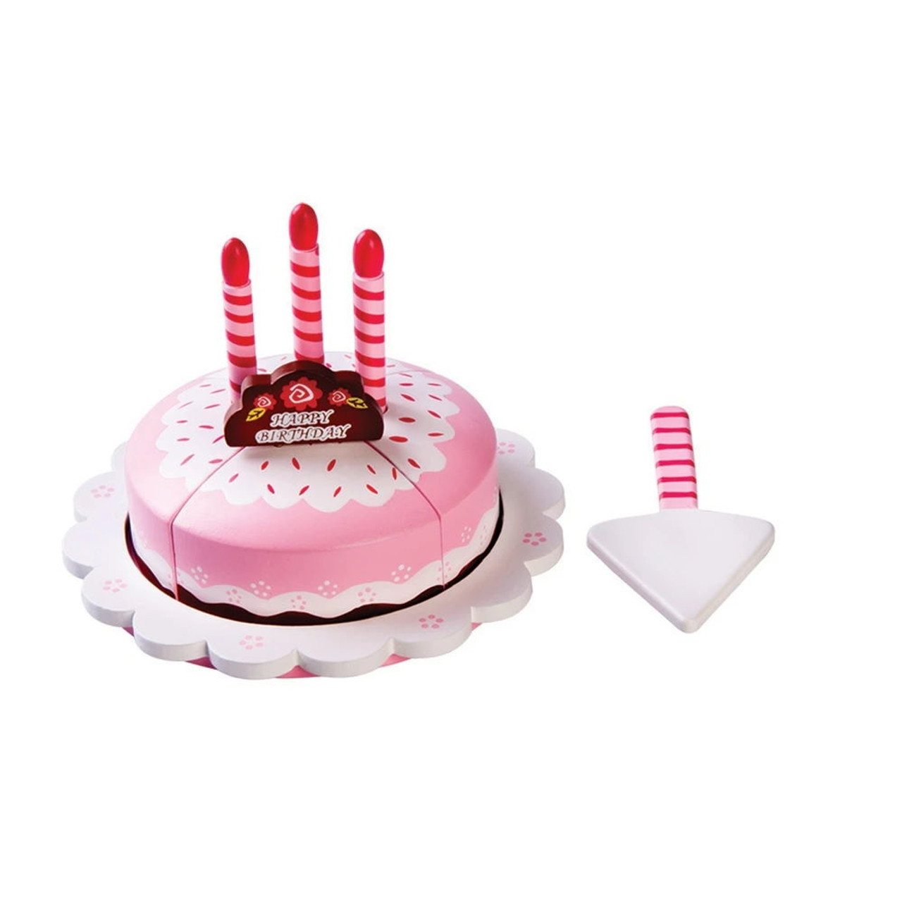 Toyslink Birthday Cake at Baby Barn Discounts A beautifully decorated wooden birthday cake, perfect for pretend play parties.