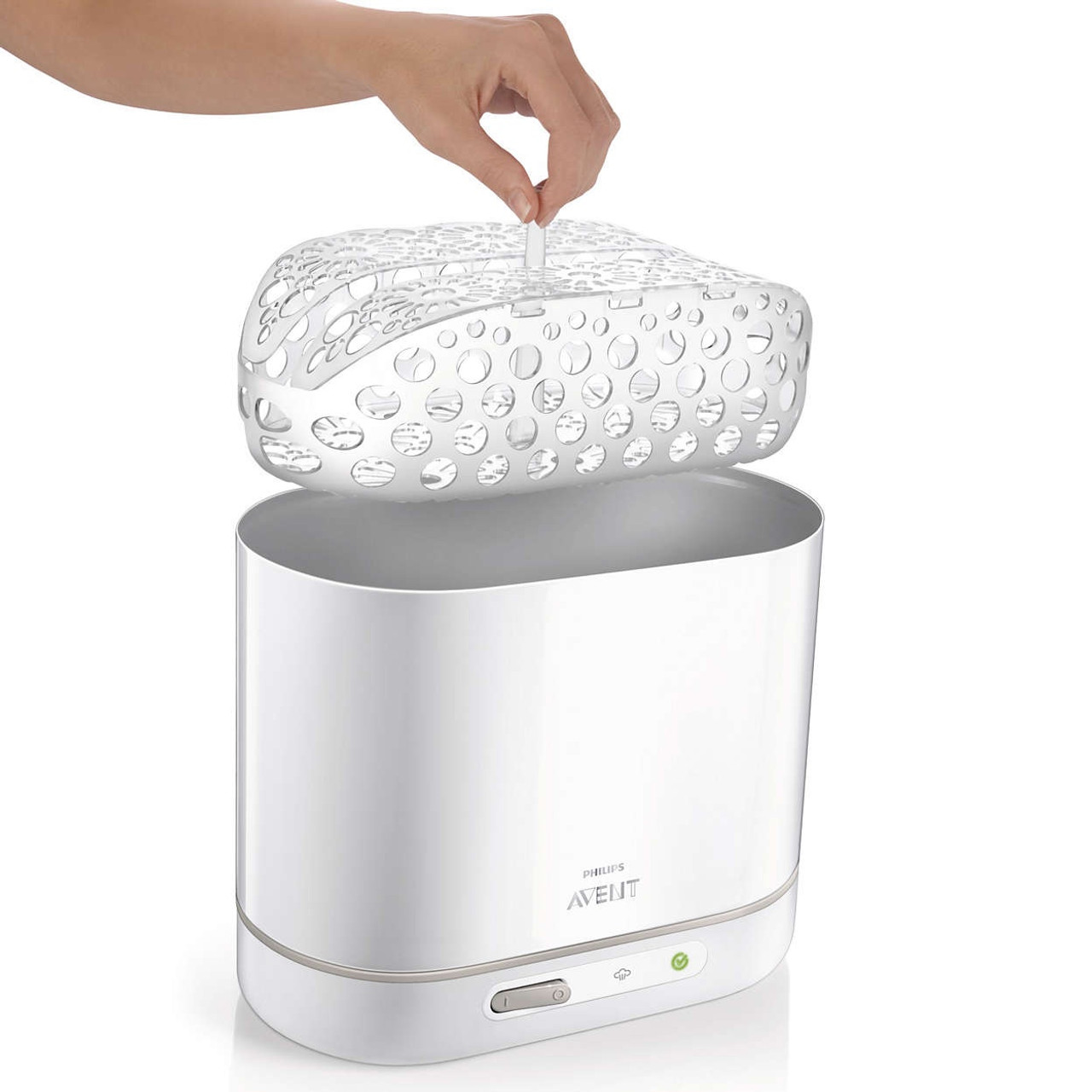 Avent 4 in 1 Electric Steam Steriliser at Baby Barn Discounts Avent sterilizer's unique modular design enables you to fit the bottles and accessories flexibly, and organize them easily.