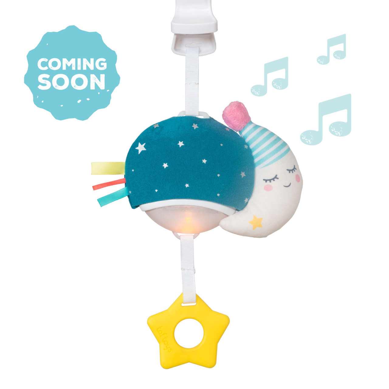 TAF Toys Musical Mini Moon at Baby Barn Discounts Musical toy for on-the-go entertainment accompanied by colorful changing light to entertain babies while out & about.