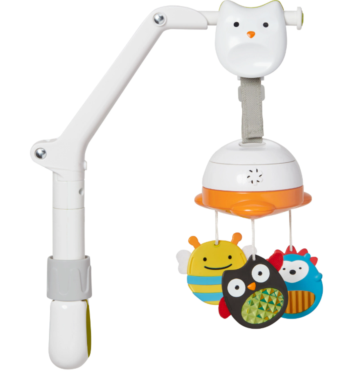 Skip Hop Explore 3 in 1 Travel Mobile   Baby Barn Discounts Skip Hop's portable baby mobile easily attaches to cribs, strollers and car seat carriers to engage and soothe baby with movement and music.