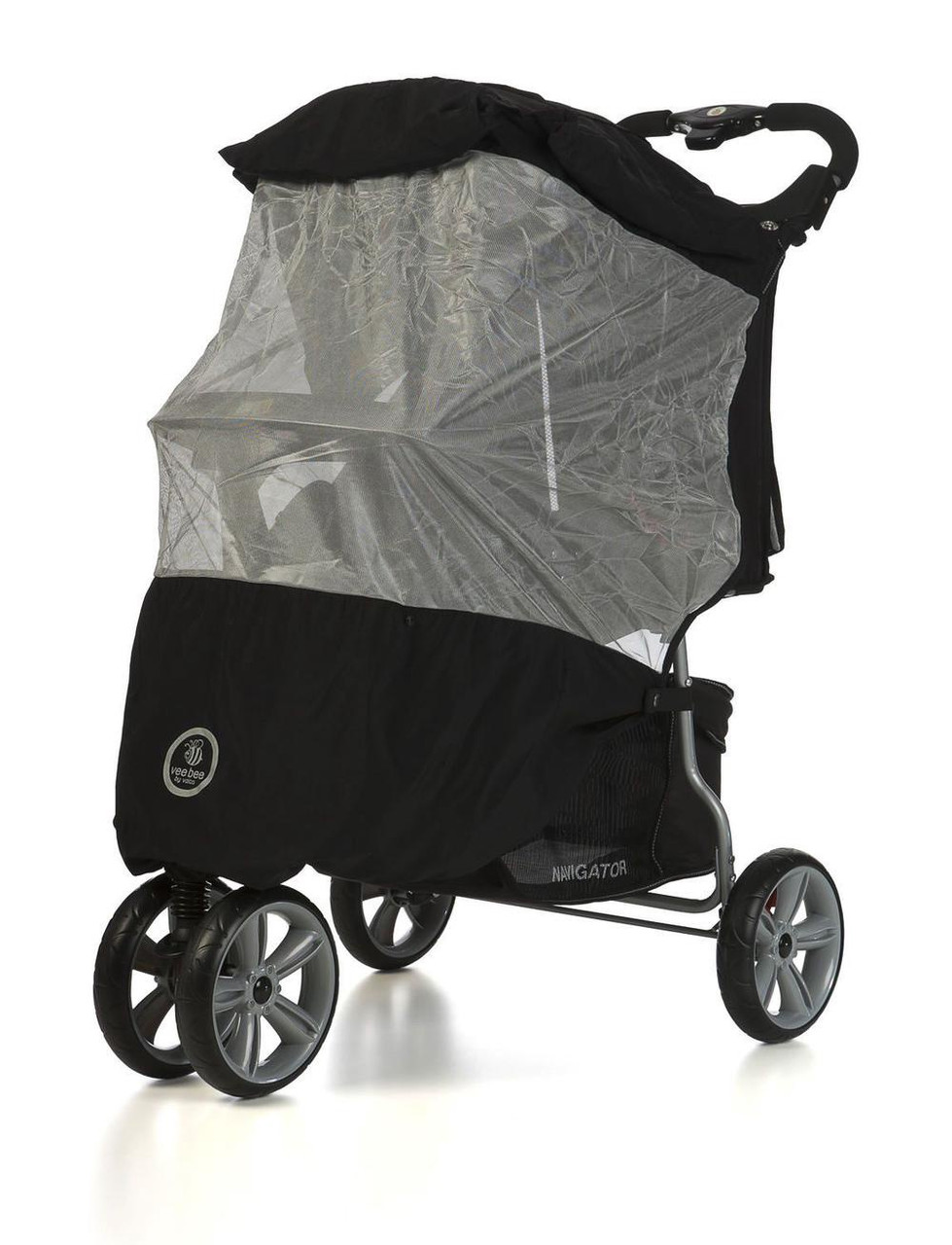 Vee Bee Sunstopper Plus+ sun Mesh for Single Pram at Baby Barn Discounts Lightweight breathable mesh sun cover to fit a 3 & 4 wheel pram.