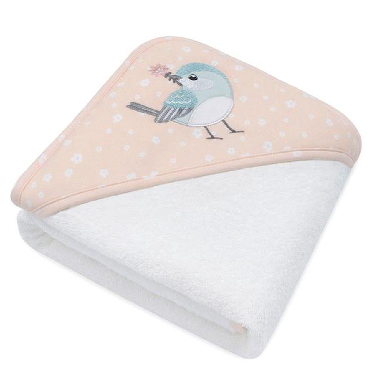 Living Textiles Hooded Towel Ava Birds at Baby Barn Discounts