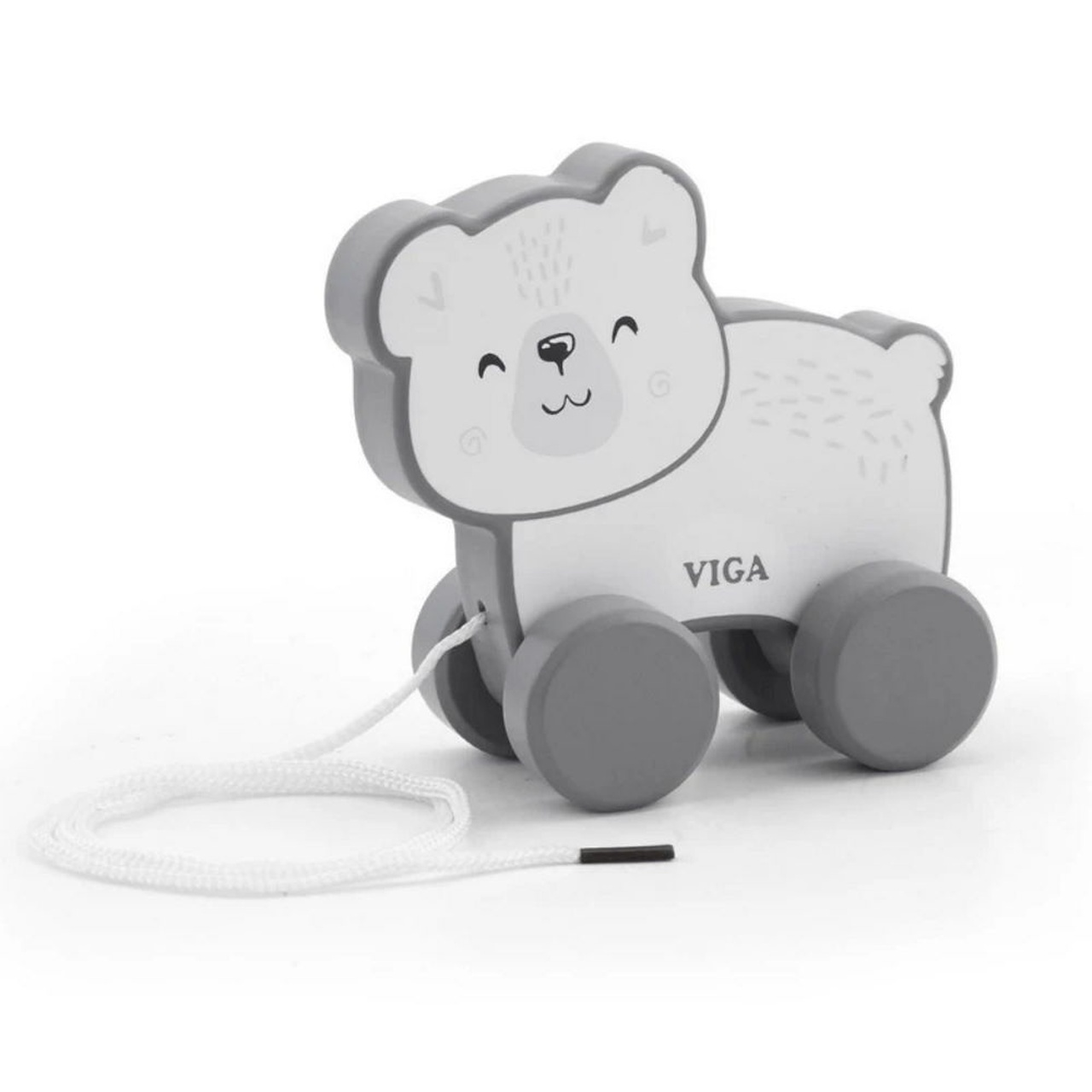 Viga PolarB Pull Along Animals at Baby Barn Discounts A sturdy wooden polar bear with a long pull along cord, great for imagination and motor skills.
