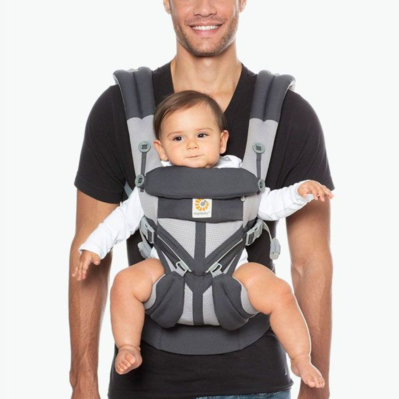 Ergobaby OMNI 360 Baby Carrier All in One Cool Air Mesh CARBON GREY at Baby Barn Discounts