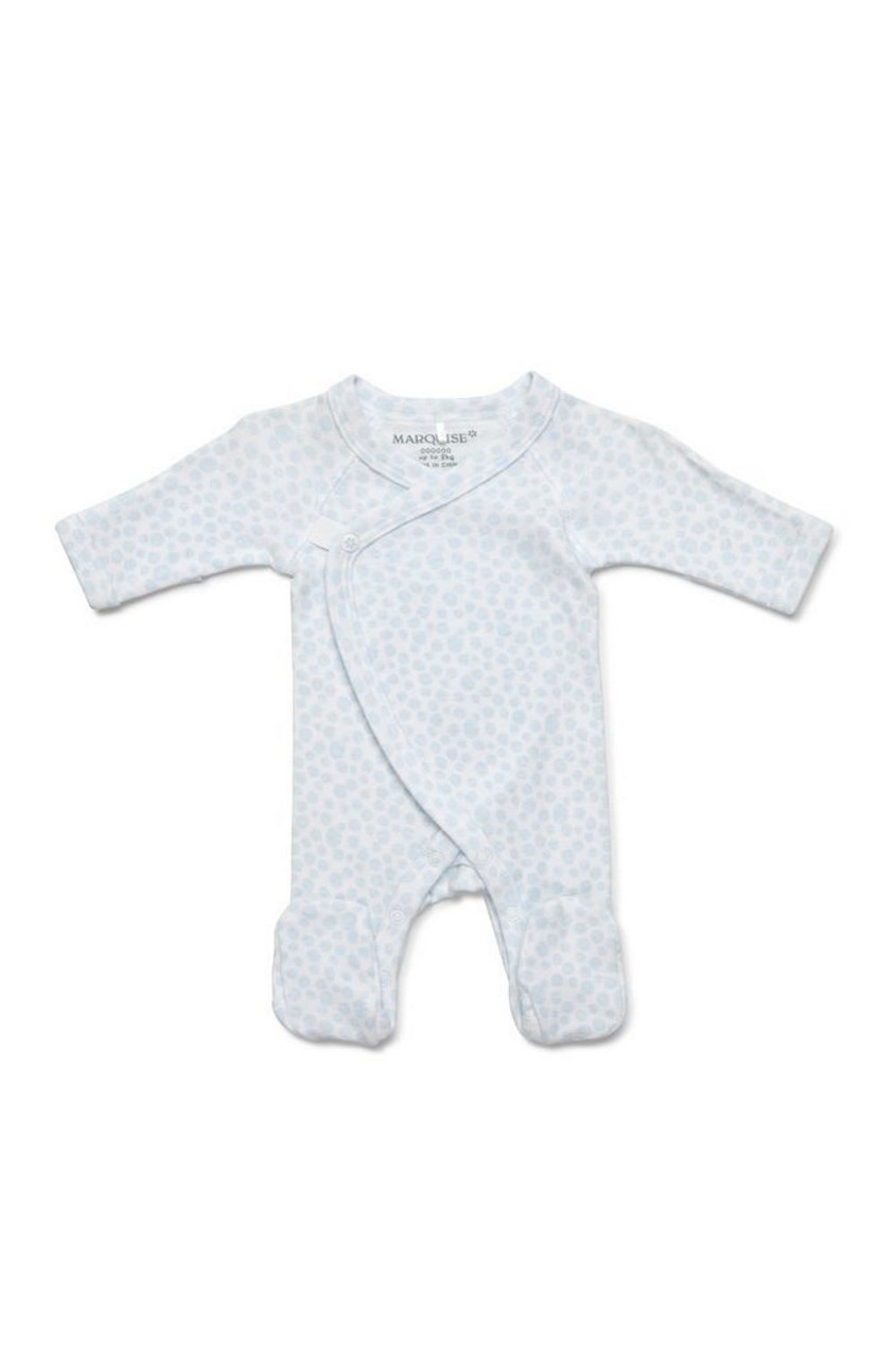 Marquise Preemie Footed Growsuit Blue at Baby Barn Discounts An essential addition to your newborns wardrobe, this ultra soft growsuit is made with the smallest babies in mind.