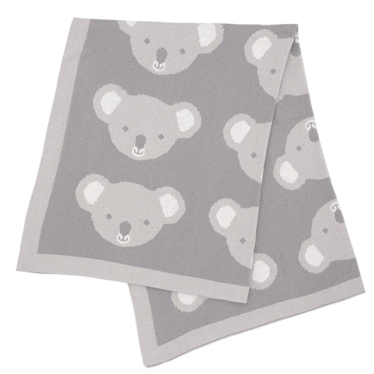 Living Textiles Knitted Koala Blanket 75 x 100cm