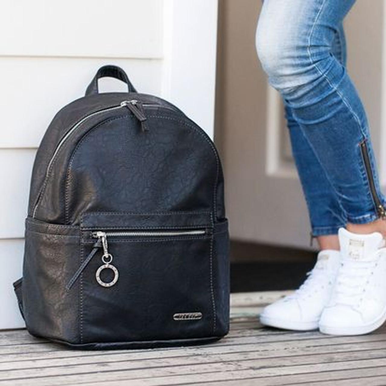 Vanchi Manhattan Backpack Nappy Bag Black at Baby Barn Discounts