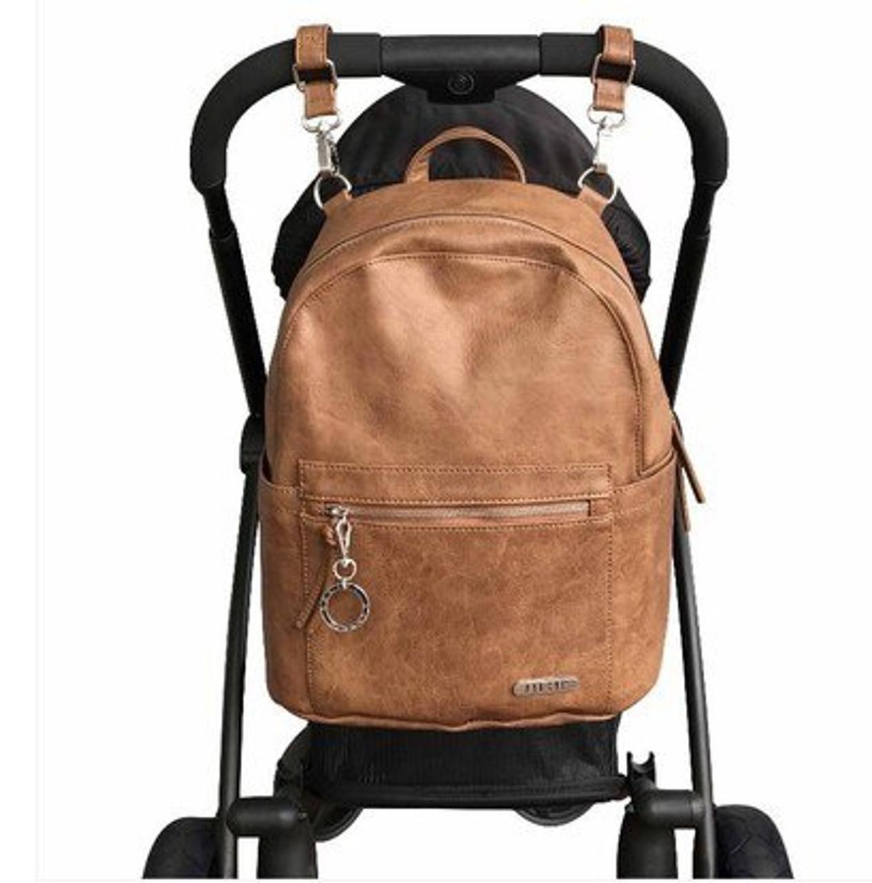 Vanchi Manhattan Backpack Nappy Bag Tan at Baby Barn Discounts