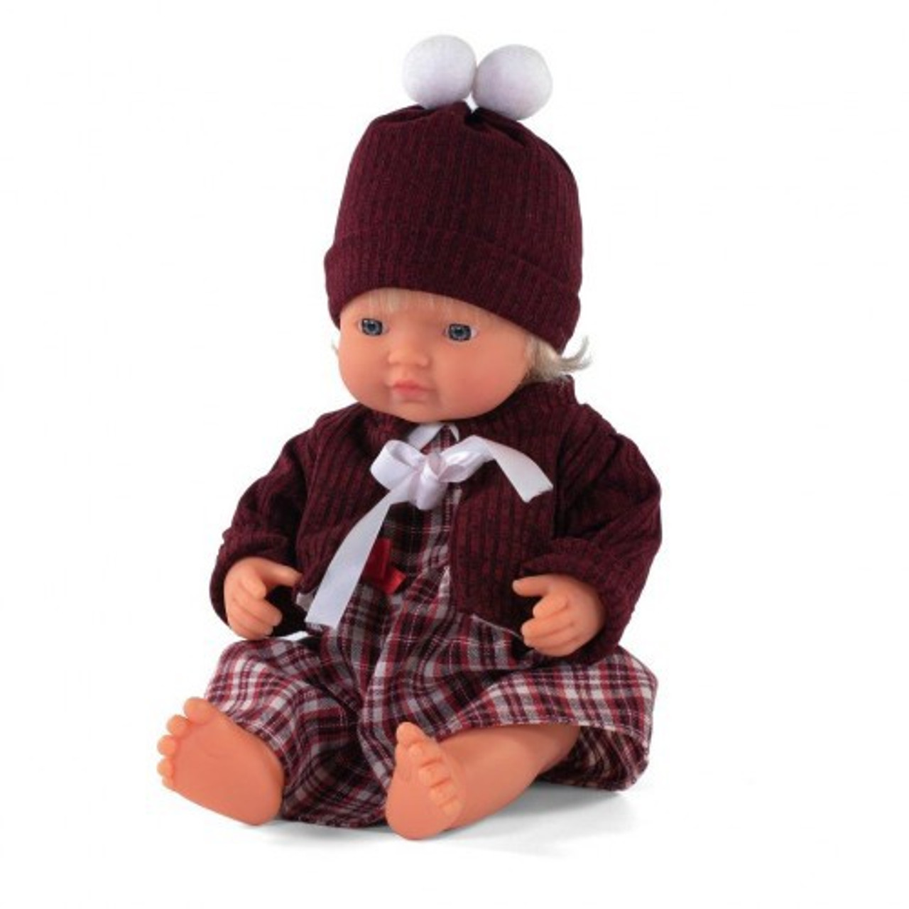 Miniland Doll Anatomically Correct Baby & Outfit Boxed 38 cm (UNDRESSED) - Caucasian Girl | Baby Barn Discounts